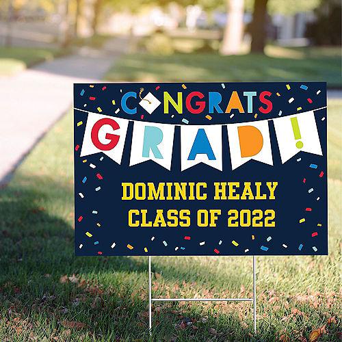 Custom Navy Class of Awesome Graduation Yard Sign Image #1