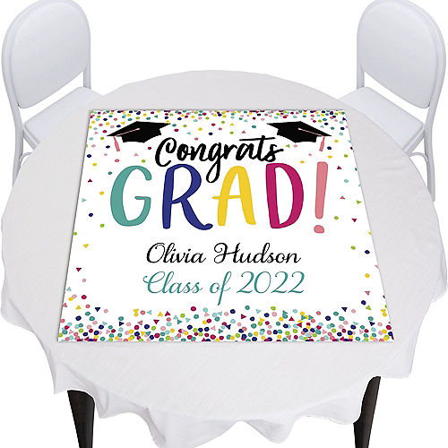 Custom Yay Grad Square Table Topper Image #1