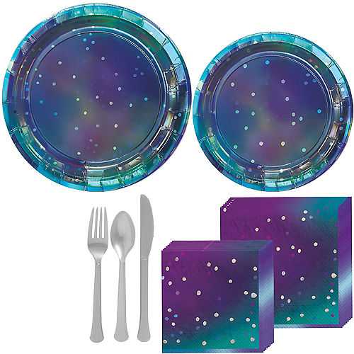 Sparkling Sapphire Tableware Kit for 16 Guests Image #1