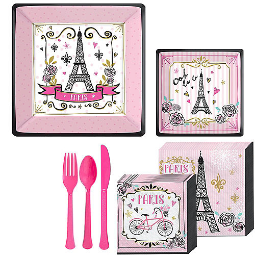 A Day in Paris Tableware Kit for 16 Guests Image #1