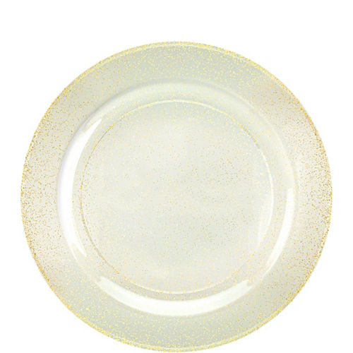 Premium Glitter Gold & White Tableware Kit for 20 Guests Image #2