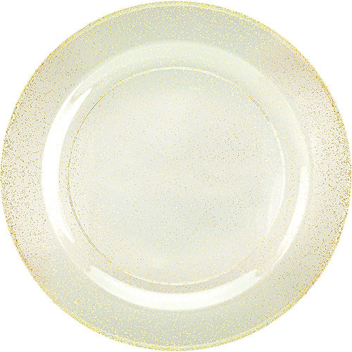 Premium Glitter Gold & White Tableware Kit for 20 Guests Image #3