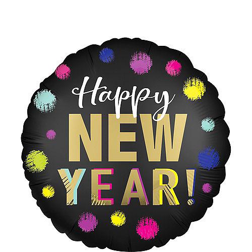 Neon Confetti Happy New Year Balloon, 18in Image #1