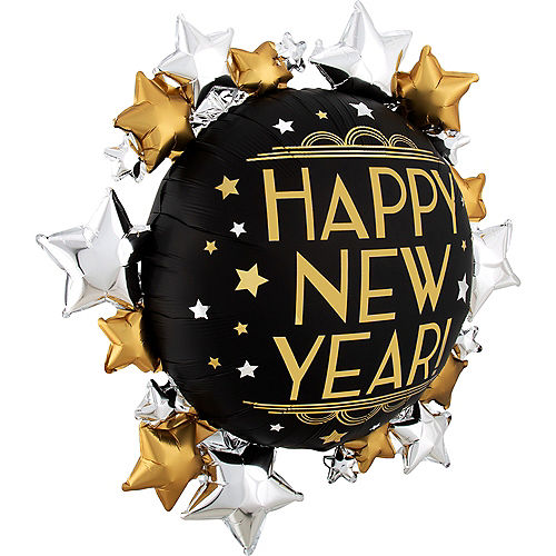 Giant Roaring 20s Star Cluster New Year's Balloon, 30in Image #2