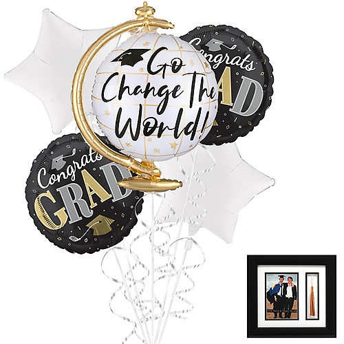 Go Change the World Balloon Bouquet Kit with Tassel Photo Frame Image #1