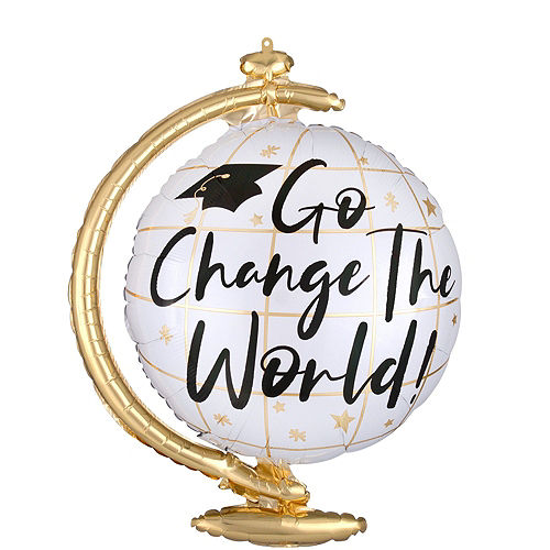 Go Change the World Balloon Bouquet Kit with Tassel Photo Frame Image #5