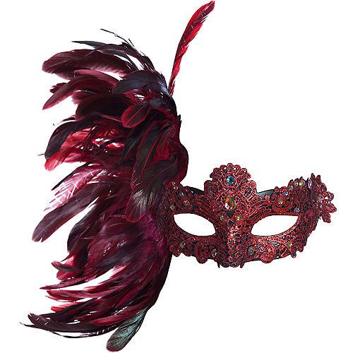 Scarlet Venetian Masquerade Mask Image #1