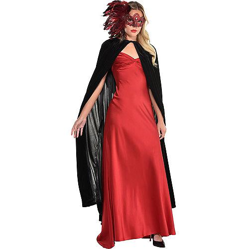 Scarlet Venetian Masquerade Mask Image #3