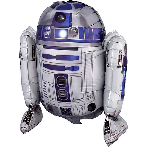 Air-Filled Sitting R2-D2 Balloon, 15in - Star Wars Image #1