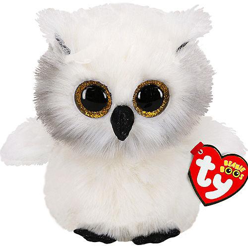 Austin Beanie Boos White & Gray Owl Plush Image #1