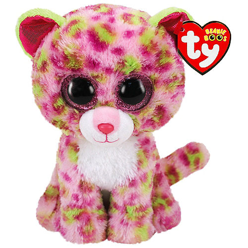Lainey Beanie Boos Pink & Green Leopard Plush Image #1