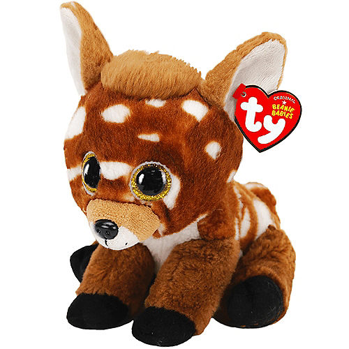 Buckley Beanie Babies Brown & White Spotted Deer Plush Image #1