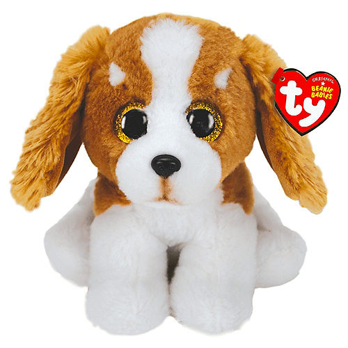 Barker Beanie Babies Brown & White Dog Plush Image #1