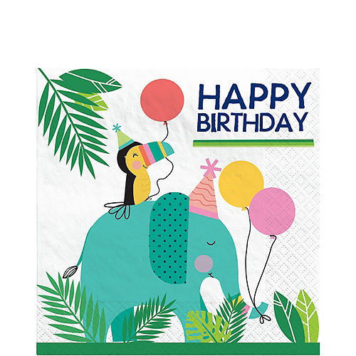 Jungle Birthday Lunch Napkins, 6.5in, 16ct Image #1