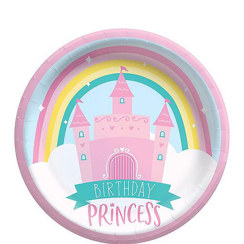 Birthday Princess Dessert Plates, 6.75in, 8ct Image #1