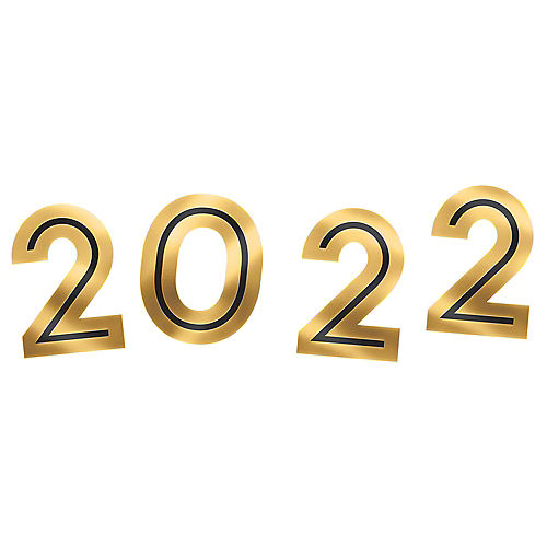 2021 New Year's Photo Booth Props, 4ct Image #1