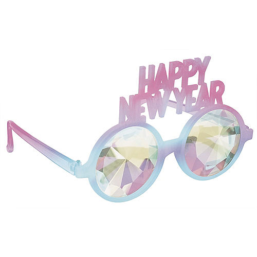 Pastel Happy New Year Prismatic Glasses Image #1
