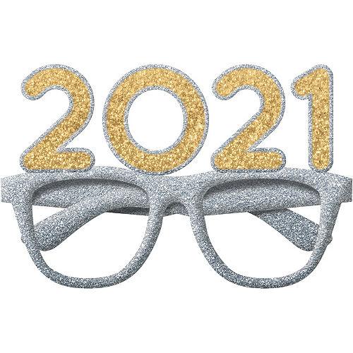 2021 Glitter Gold & Silver Glasses Image #1