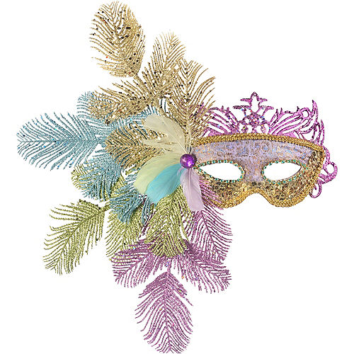 Mythical Fern Glitter Masquerade Mask Image #1