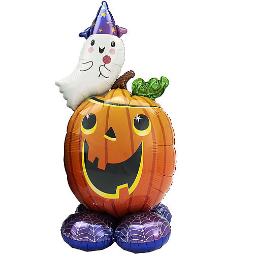 AirLoonz Jack-o'-Lantern & Ghost Balloon, 56in Image #1