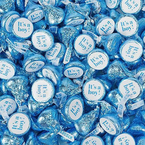Blue It's a Boy Milk Chocolate Hershey's Kisses, 200ct Image #1
