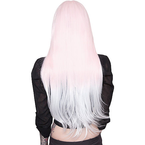 Pink to White Ombre Wig Image #3