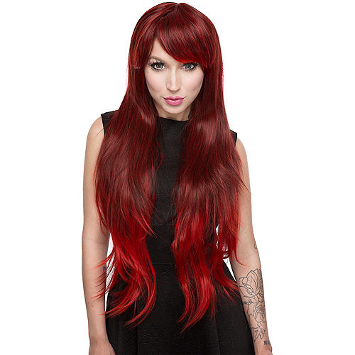 Red Wine Ombre Wig Image #1