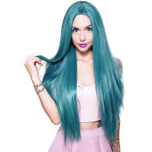 Yaki Lace Front Straight Turquoise Wig Image #1