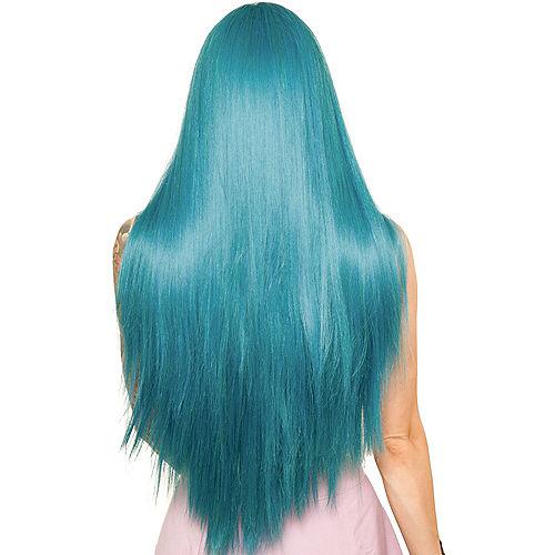Yaki Lace Front Straight Turquoise Wig Image #2