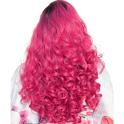 Lace Front Dark Roots Curly Rose Wig Image #2