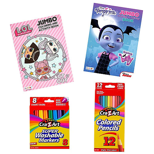 Girls Art Time Assorted Coloring Set in a Box Image #1
