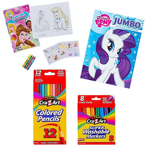 Girls Assorted Coloring Books & Brain Teasers in a Box Image #1