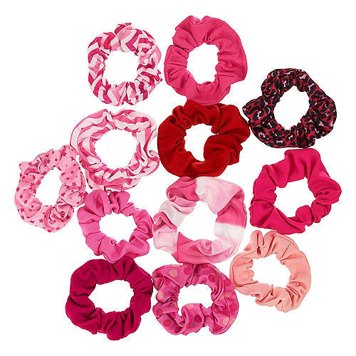Yay for Today Pink & Red Scrunchies 12ct Image #1