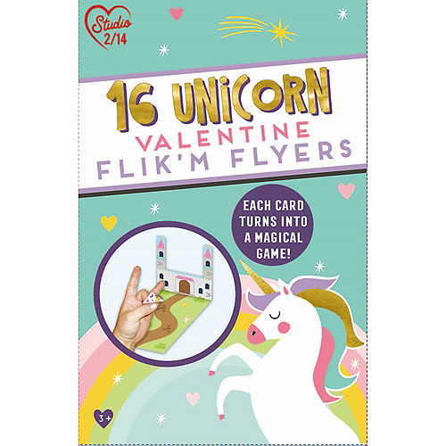 Flik'M Flyers Unicorn Valentine Exchange Cards 16ct Image #1