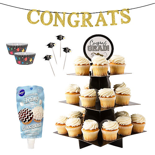 Colorful Commencement Cupcake Display in a Box Image #1