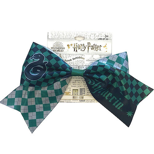Slytherin Hair Bow - Harry Potter Image #1