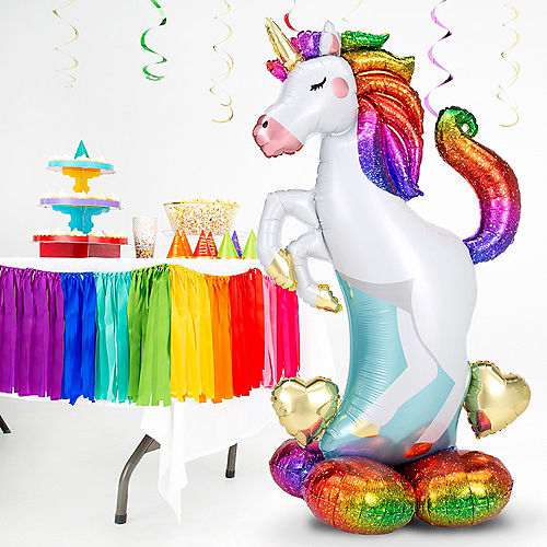AirLoonz Rainbow Unicorn Balloon, 55in Image #2