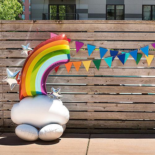 AirLoonz Half Rainbow Balloon, 52in Image #3