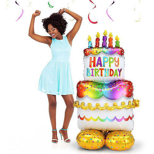AirLoonz Birthday Cake Balloon, 53in Image #2