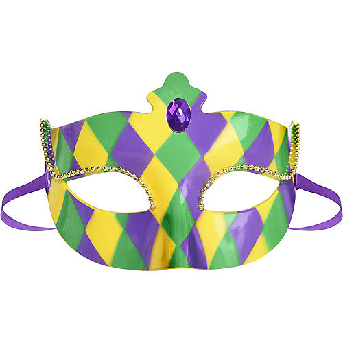 Mardi Gras Harlequin Masquerade Mask Image #1