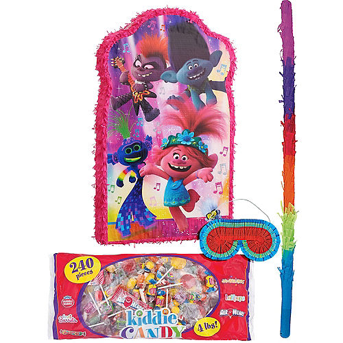 Giant Trolls World Tour Pinata Kit with Candy Image #1