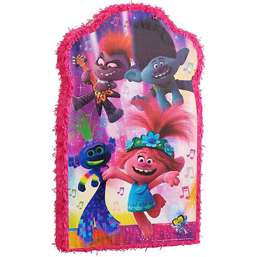 Giant Trolls World Tour Pinata Kit with Candy Image #4
