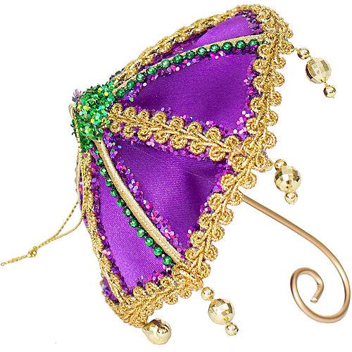 Purple Mardi Gras Umbrella Ornament Image #1