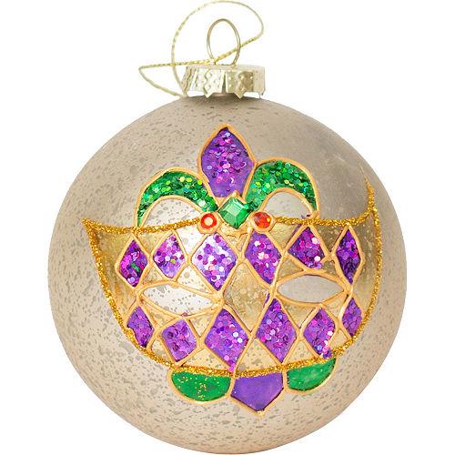 Mardi Gras Mask Ball Ornament Image #1