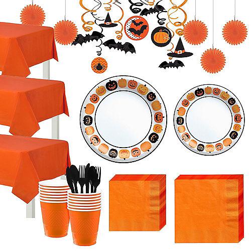 Pumpkin Fun Tableware Kit for 80 Guests Image #1