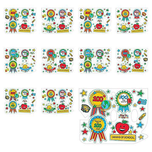 100 Days of School Award Stickers 200ct Image #1