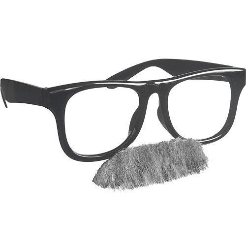 Old Man Glasses with Moustache Image #1