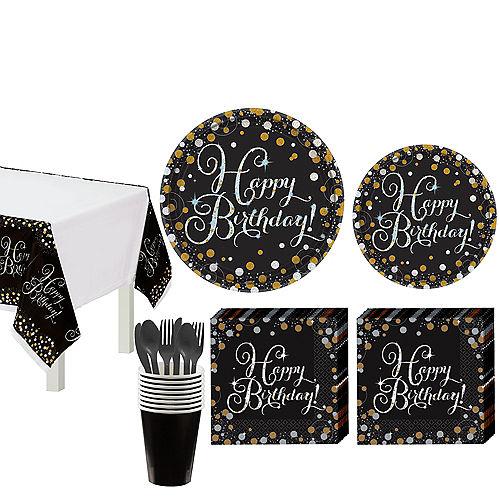Sparkling Celebration Birthday Tableware Kit for 8 Guests Image #1