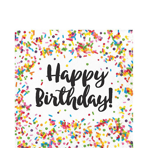 Rainbow Sprinkles Birthday Tableware Kit for 8 Guests Image #4