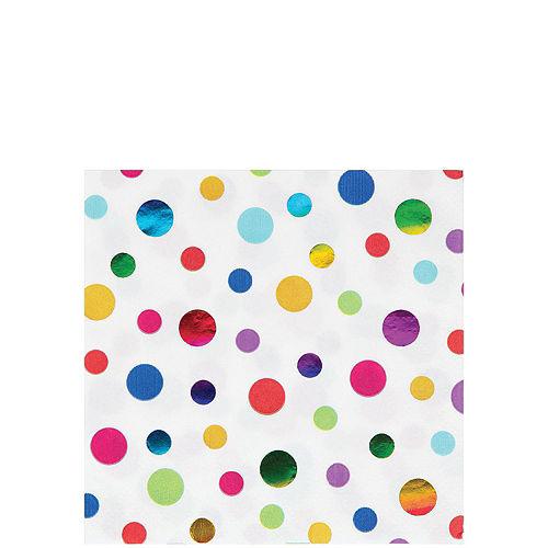 Metallic Rainbow Birthday Tableware Kit for 8 Guests Image #4